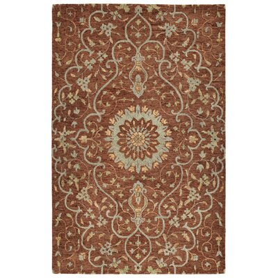 Toshiro Hand Tufted Wool Brick Area Rug Rug Size: Rectangle 4 x 6