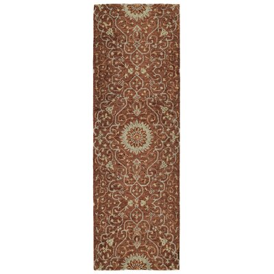 Toshiro Hand Tufted Wool Brick Area Rug Rug Size: Runner 26 x 8