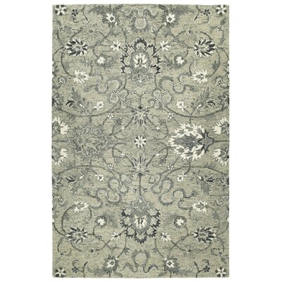 Toshiro Traditional Hand Tufted Wool Gray Area Rug Rug Size: Rectangle 8 x 10