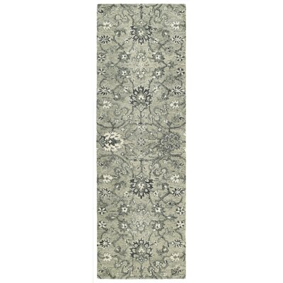 Toshiro Traditional Hand Tufted Wool Gray Area Rug Rug Size: Runner 26 x 8