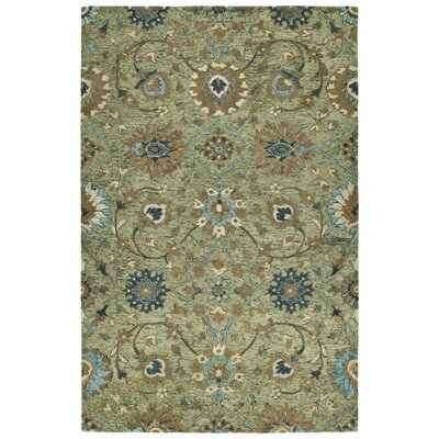 Toshiro Hand Tufted Wool Sage Area Rug Rug Size: Rectangle 10 x 14