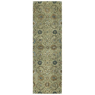 Toshiro Hand Tufted Wool Sage Area Rug Rug Size: Runner 26 x 8
