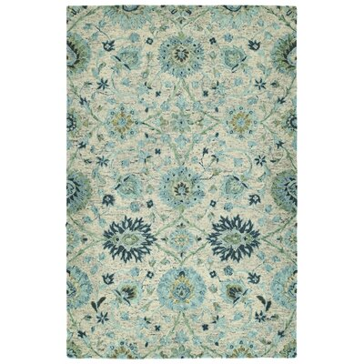 Toshiro Hand Tufted Wool Turquoise Area Rug Rug Size: Rectangle 10 x 14