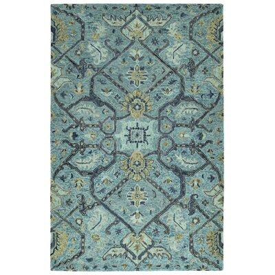 Toshiro Hand Tufted Wool Blue Area Rug Rug Size: Rectangle 9 x 12