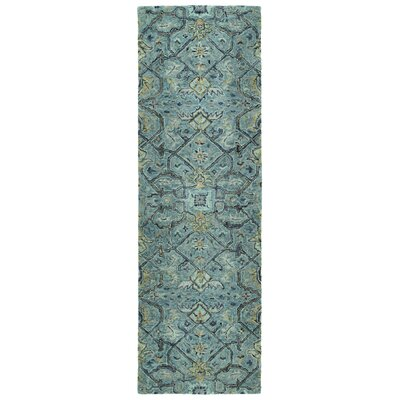 Toshiro Hand Tufted Wool Blue Area Rug Rug Size: Runner 26 x 8