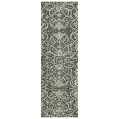 Toshiro Hand Tufted Wool Graphite Area Rug Rug Size: Runner 26 x 8