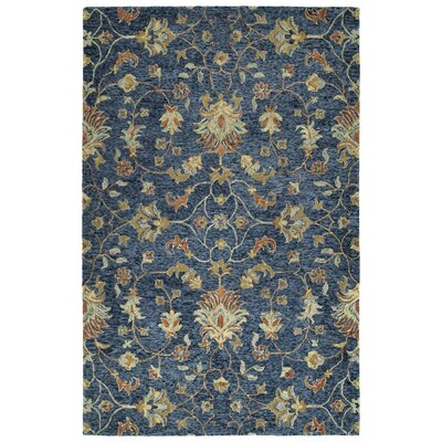 Toshiro Hand Tufted Wool Denim Area Rug Rug Size: Rectangle 8 x 10