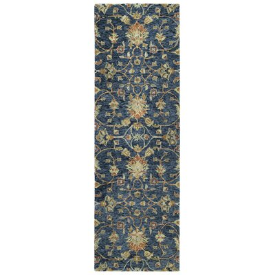 Toshiro Hand Tufted Wool Denim Area Rug Rug Size: Runner 26 x 8