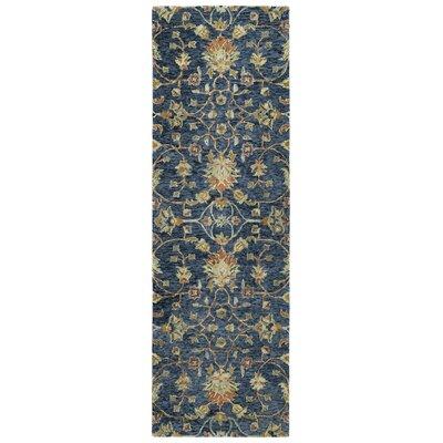 Toshiro Hand Tufted Wool Denim Area Rug Rug Size: Runner 26 x 8