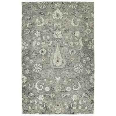 Toshiro Hand Tufted Wool Gray Area Rug Rug Size: Rectangle 5 x 79