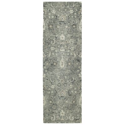 Toshiro Hand Tufted Wool Gray Area Rug Rug Size: Runner 26 x 8