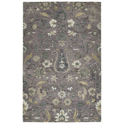 Toshiro Hand Tufted Wool Lilac Area Rug Rug Size: Rectangle 9 x 12