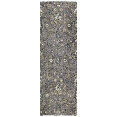 Toshiro Hand Tufted Wool Lilac Area Rug Rug Size: Runner 26 x 8