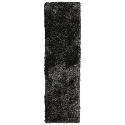 Bieber Shag Black Area Rug Rug Size: Runner 23 x 8