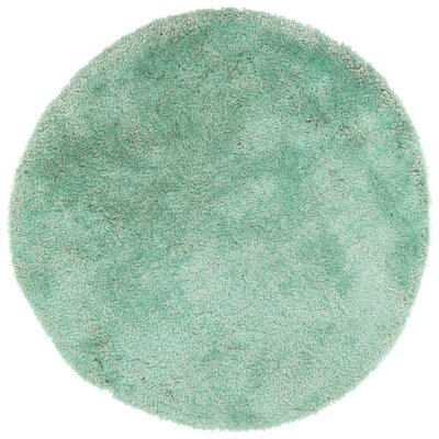 Bieber Turquoise Area Rug Rug Size: Round 4