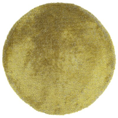 Bieber Lime Green Area Rug Rug Size: Round 8