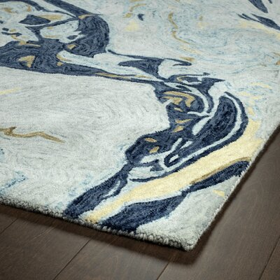 Bargas Hand Tufted Wool Blue Area Rug Rug Size: Rectangle 8 x 11
