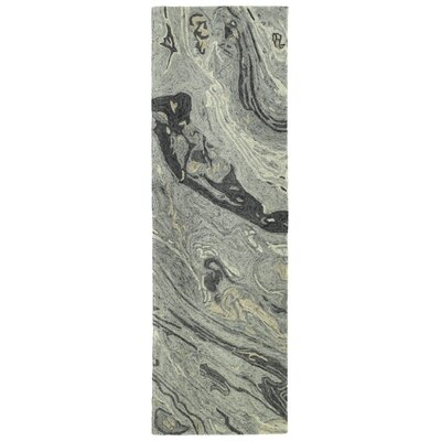 Bargas Hand Tufted Wool Graphite Area Rug Rug Size: Runner 26 x 8