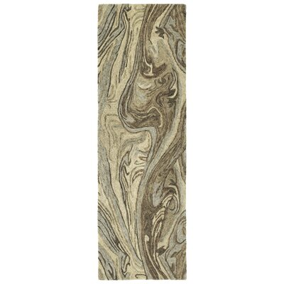 Bargas Hand Tufted Wool Sand Area Rug Rug Size: Runner 26 x 8