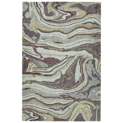 Bargas Hand Tufted Wool Aubergine Area Rug Rug Size: Rectangle 8 x 11