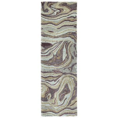Bargas Hand Tufted Wool Aubergine Area Rug Rug Size: Runner 26 x 8