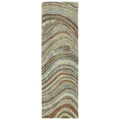 Bargas Hand Tufted Wool Grey/Brown Area Rug Rug Size: Rectangle 36 x 56