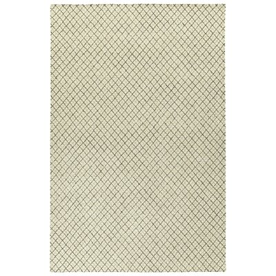 Tahsha Hand Tufted Wool Beige Area Rug Rug Size: Rectangle 36 x 56