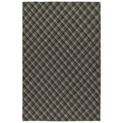 Tahsha Hand Tufted Wool Charcoal Area Rug Rug Size: Rectangle 36 x 56