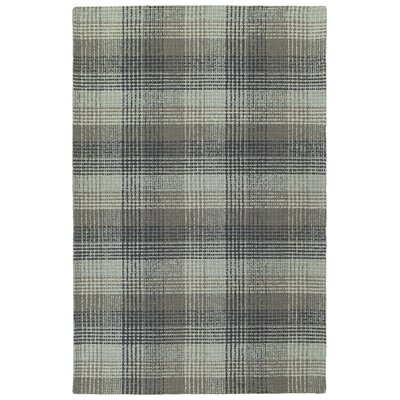 Tahsha Hand Tufted Wool Grey Area Rug Rug Size: Rectangle 36 x 56