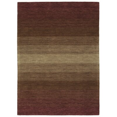 Fortune Hand Tufted Wool Wine Area Rug Rug Size: 96 x 13