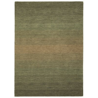 Fortune Hand Tufted Wool Green Area Rug Rug Size: 5 x 76