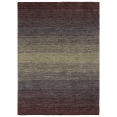 Fortune Hand Tufted Wool Purple Area Rug Rug Size: 5 x 76