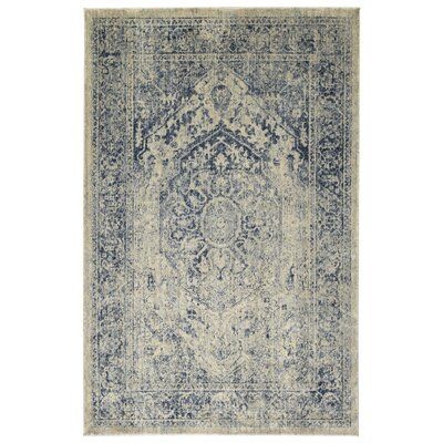 Jada Oriental Denim/Linen Area Rug Rug Size: Rectangle 92 x 126