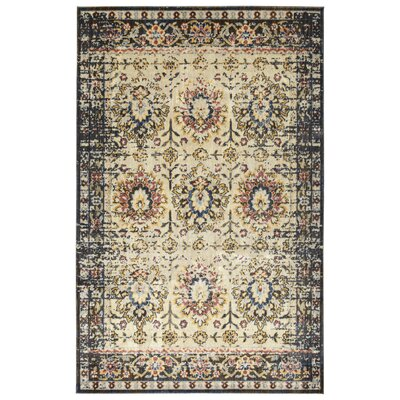 Jada Ivory/Denim Area Rug Rug Size: Rectangle 1'1 x 3'