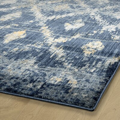 Jada Denim Area Rug Rug Size: Rectangle 1'1 x 3'