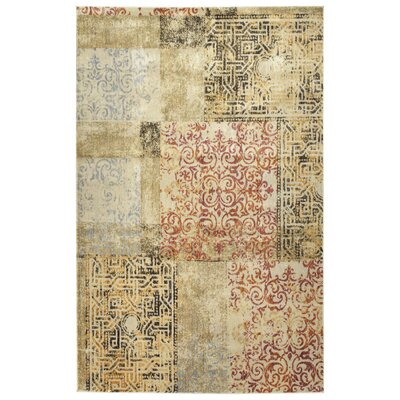 Makushin Gold Area Rug Rug Size: Rectangle 53 x 73