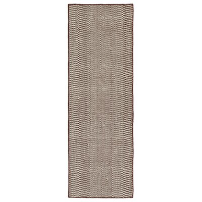Buell Hand Woven Burgundy Indoor/Outdoor Area Rug Rug Size: Runner 2 x 6