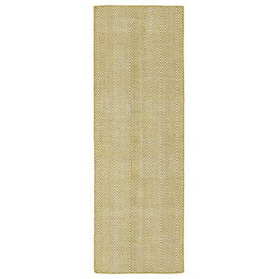 Buell Hand Woven Gold Indoor/Outdoor Area Rug Rug Size: Runner 2 x 6