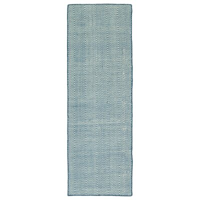 Buell Hand Woven Denim Indoor/Outdoor Area Rug Size: Runner 2 x 6