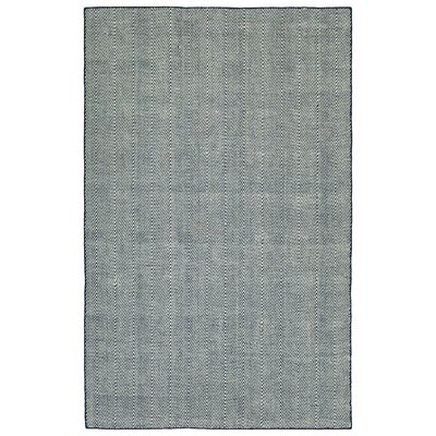 Buell Hand Woven Navy Indoor/Outdoor Area Rug Rug Size: Rectangle 8 x 10