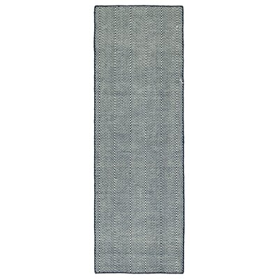 Buell Hand Woven Navy Indoor/Outdoor Area Rug Rug Size: Runner 2 x 6