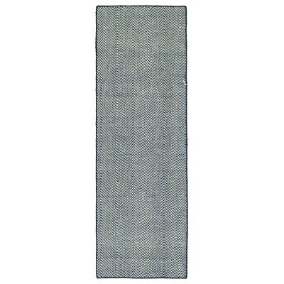 Buell Hand Woven Navy Indoor/Outdoor Area Rug Rug Size: Runner 2 x 6