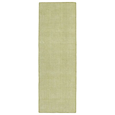 Buell Hand Woven Wasabi Indoor/Outdoor Area Rug Rug Size: Runner 2 x 6