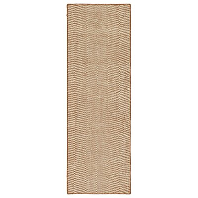 Buell Hand Woven Orange Indoor/Outdoor Area Rug Rug Size: Runner 2 x 6
