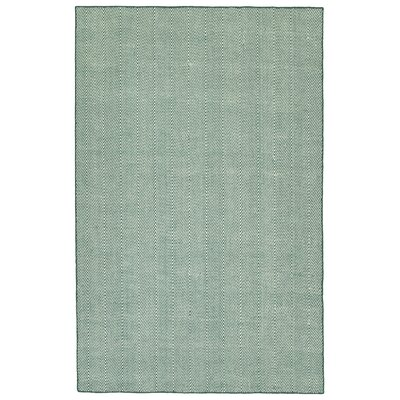 Buell Hand Woven Teal Indoor/Outdoor Area Rug Rug Size: Rectangle 5 x 76