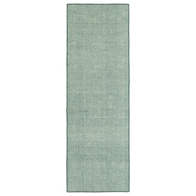 Buell Hand Woven Teal Indoor/Outdoor Area Rug Rug Size: Runner 2 x 6