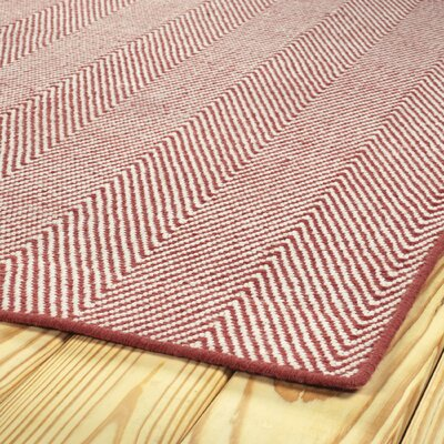 Buell Hand Woven Coral Indoor/Outdoor Area Rug Rug Size: Rectangle 5 x 76