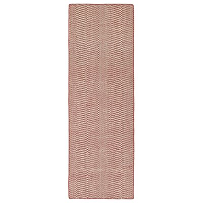 Buell Hand Woven Coral Indoor/Outdoor Area Rug Rug Size: Runner 2 x 6