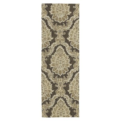 """Home and Porch Cedar Hamock Brown Floral and plants Indoor/Outdoor Area Rug Rug Size: 7'6"""" x 9'"""