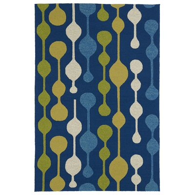 Home and Porch Blue Indoor/Outdoor Area Rug Rug Size: 2 x 3